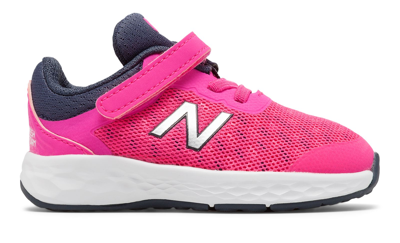 Details about New Balance Kid's Fresh Foam Kaymin Infant Comfort Girls  Shoes Pink With Grey