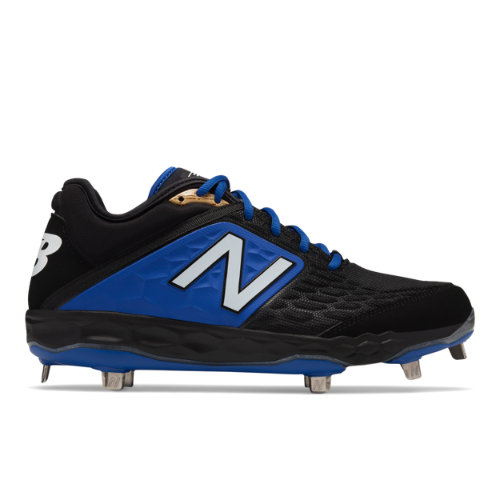 Fresh Foam 3000v4 Metal Men's Cleats and Turf Shoes - Black/Blue (L3000BB4)