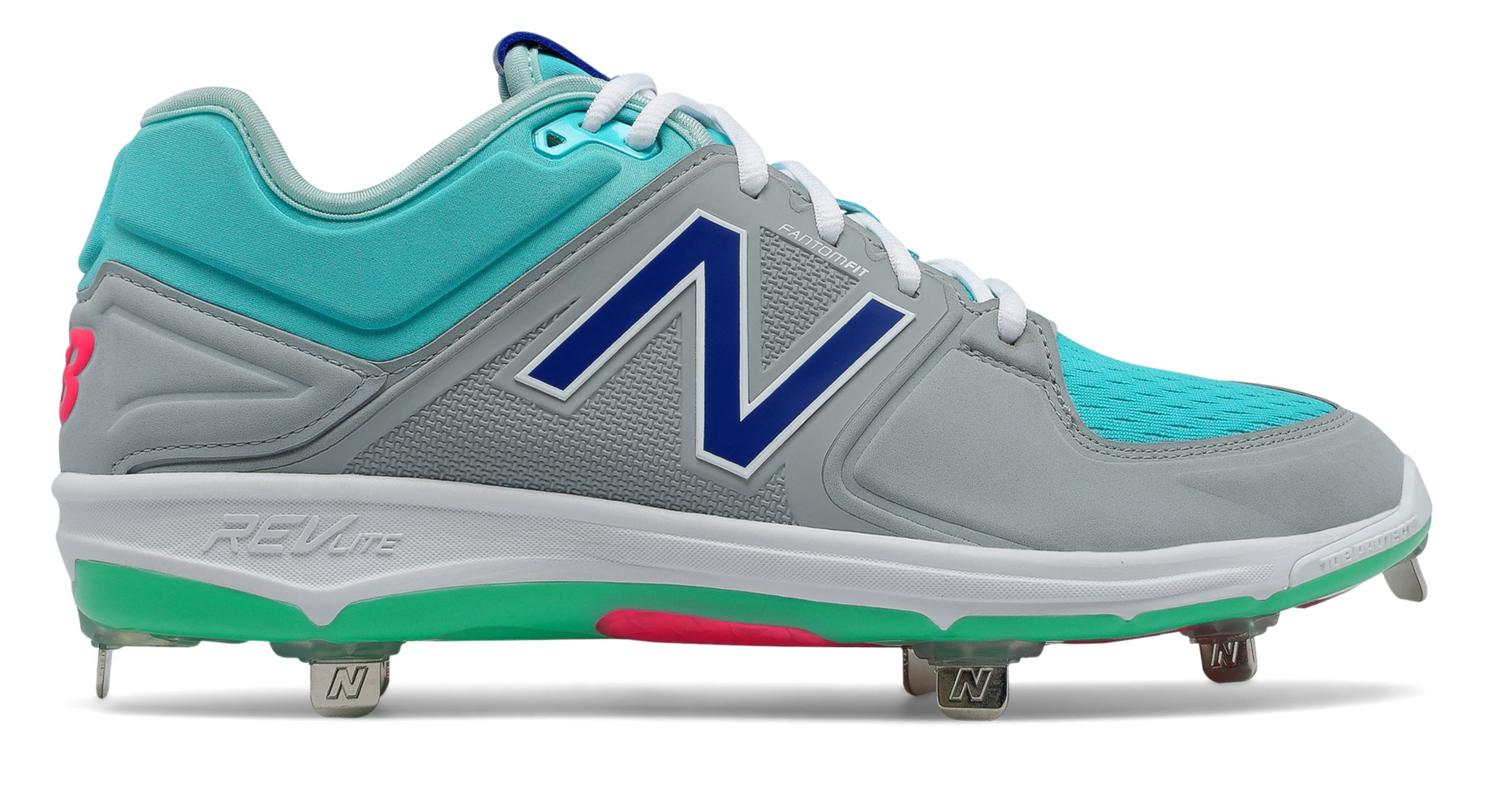 9923aac12f1e8 New Balance Low-Cut 3000v3 Metal Baseball Cleat Mens Shoes Grey with ...