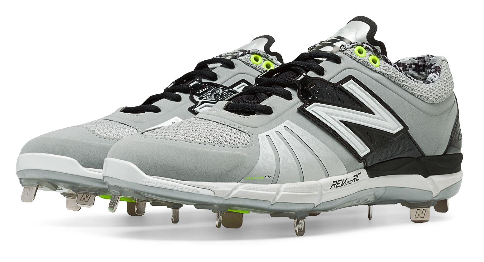 New Balance Low-Cut 4040V2 Metal Baseball Cleat Mens Shoes Grey//Blue /& White