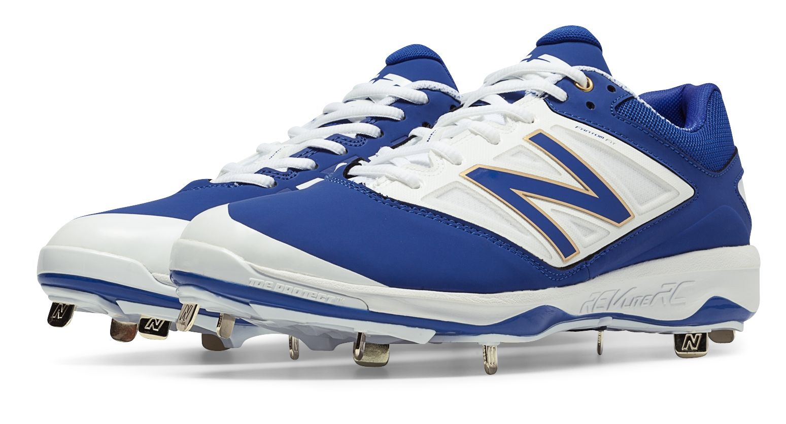 bd71b53e5d23 New Balance Low-Cut 4040v3 Metal Baseball Cleat Mens Shoes Blue with ...