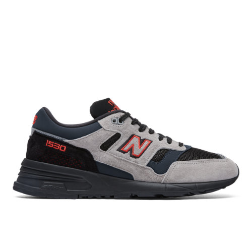 Made in UK 1530 Men's Made in UK Shoes - Grey/Black/Red (M1530VA)