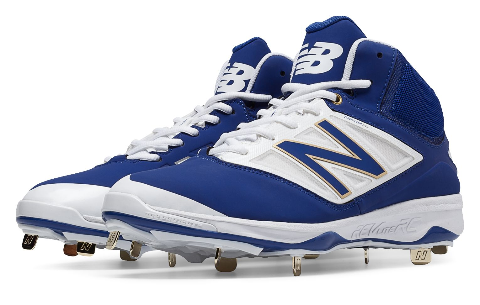 55411a8225faa New Balance Mid-Cut 4040V3 Metal Baseball Cleat Mens Shoes Blue And ...