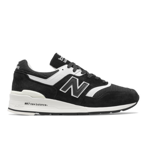 Made in US 997 Men's Made in USA Shoes - Black/White (M997BBK)