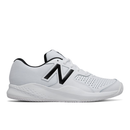 696v3 Men's Tennis Shoes - White/Black (MC696WT3)
