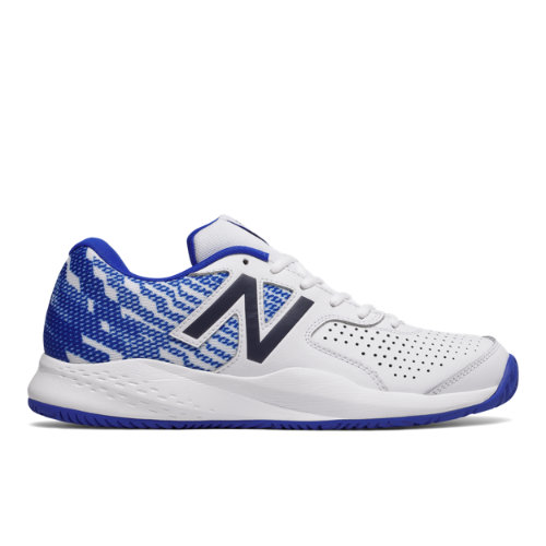 696v3 Men's Tennis Shoes - White/Blue (MCH696R3)