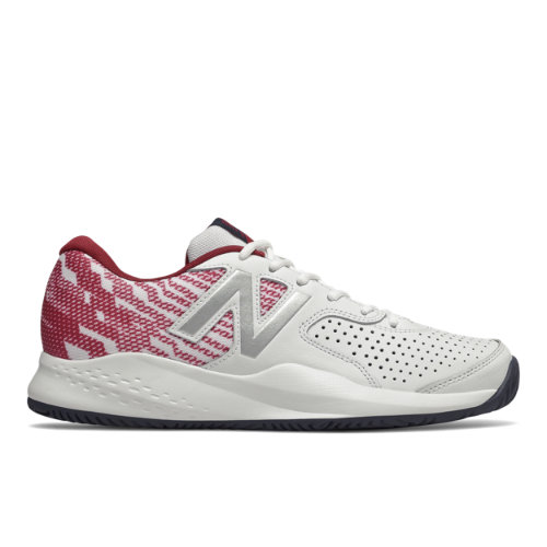 696v3 Men's Tennis Shoes - White/Red (MCH696S3)