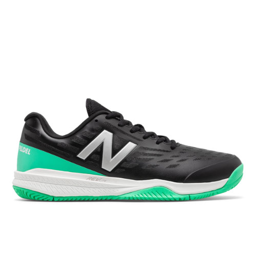 796 Men's Tennis Shoes - Black/Green (MCH796PA)