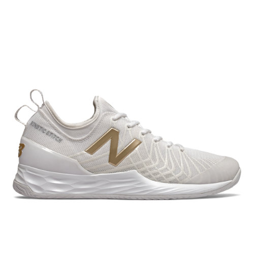 Fresh Foam Lav Men's Tennis Shoes - White/Gold (MCHLAVRG)