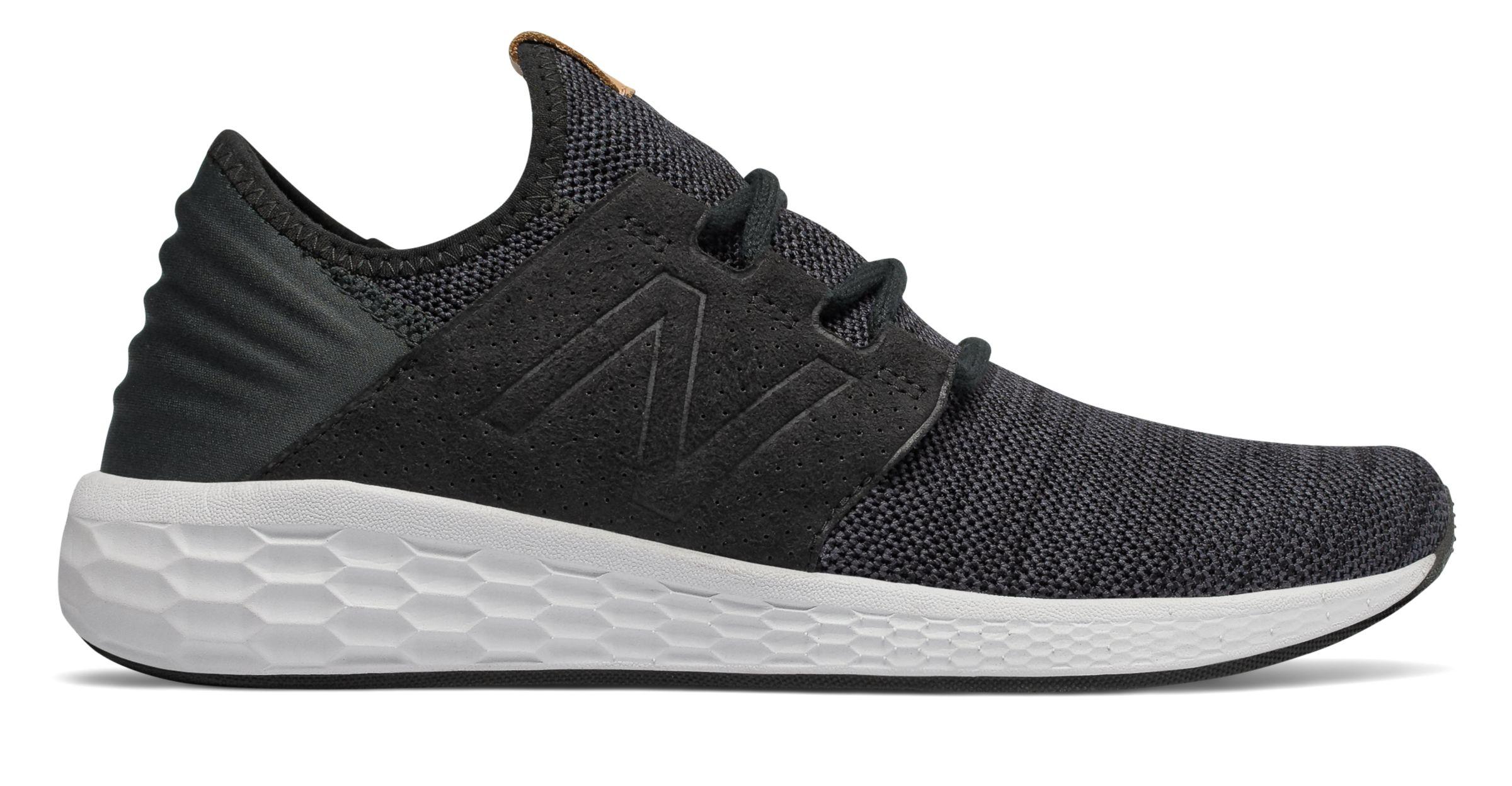 9386a6a933f76 New Balance Male Men's Fresh Foam Cruz V2 Knit Comfort Adult Black ...