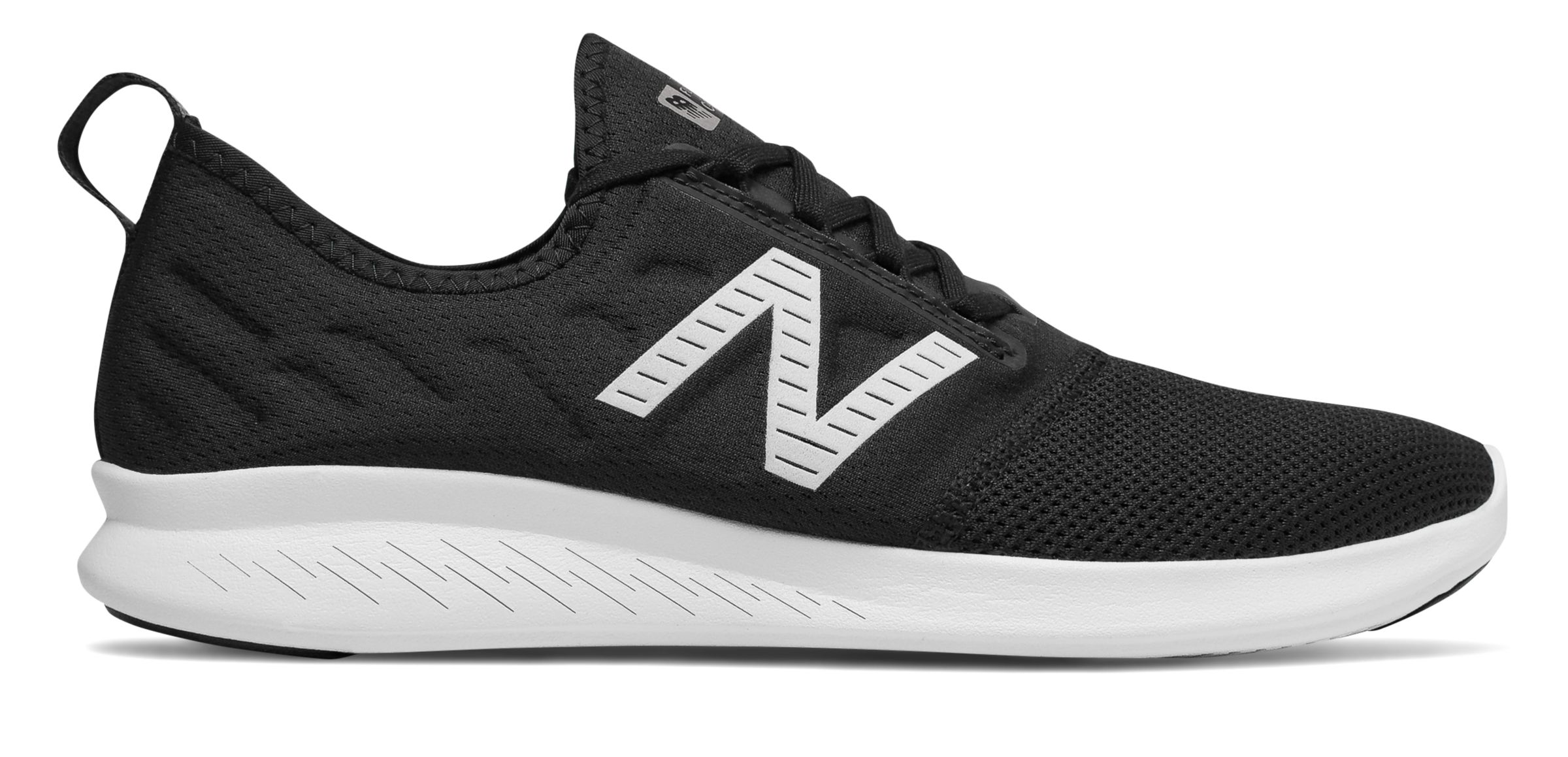 b5032ad2f00f New Balance Men s FuelCore Coast v4 Shoes Black with White