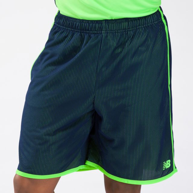 Mens 9 inch color shift mesh shorts