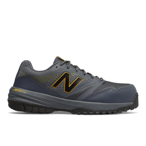 Composite Toe 589 Men's Work Shoes - Black/Yellow/Grey (MID589LC)