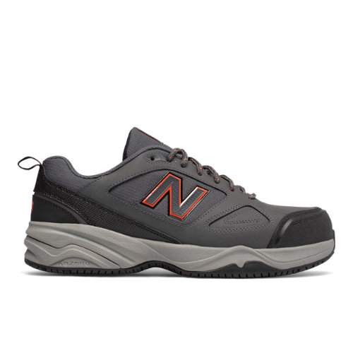 Steel Toe 627v2 Men's Work Shoes - Grey/Orange (MID627G2)