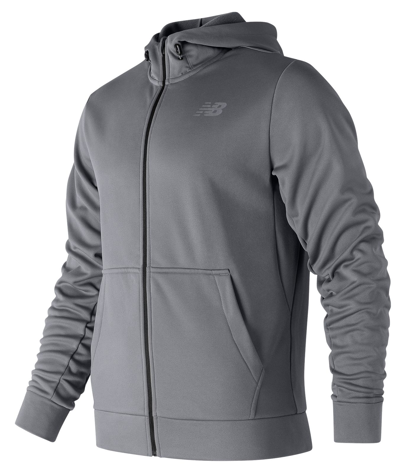 989b528fa58 New Balance Men s NB CoreFleece Full Zip Hoodie Grey