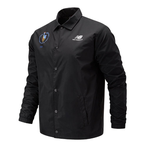 New Balance 91521 Men's NYC Marathon Classic Coaches Stacked Jacket - Black (MJ91521MBK)