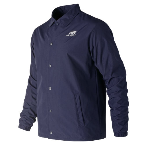 New Balance 91521 Men's Classic Coaches Stacked Jacket - Navy (MJ91521PGM)
