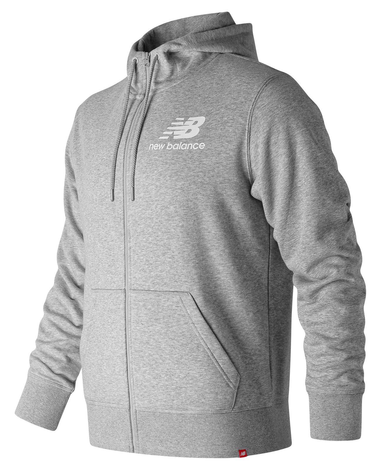 *Markdown*  Men's Essentials Stacked Logo Full Zip Hoodie