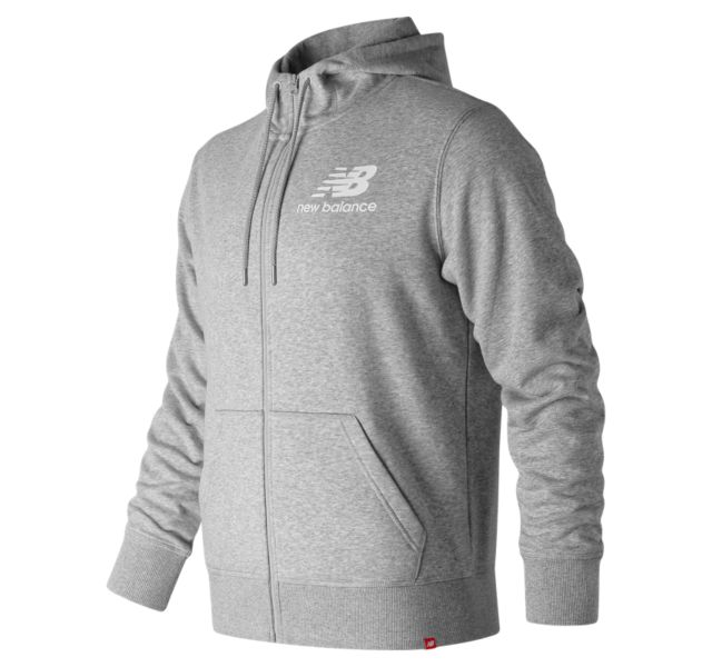 Men's Essentials Stacked Logo Full Zip Hoodie