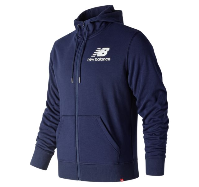 Men's Essentials Stacked Logo Full Zip Hoodie