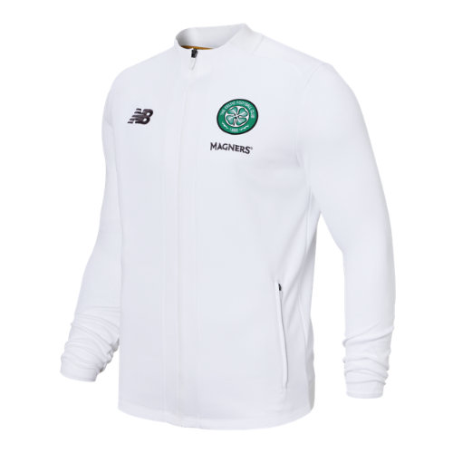 New Balance 931102 Men's Celtic FC Game Jacket - White/Black/Green (MJ931102WT)