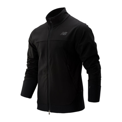 New Balance 93244 Men's Q Speed Winterwatch Jacket - Black (MJ93244BK)