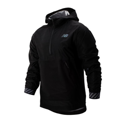 New Balance 93275 Men's Q Speed Waterproof Jacket - Black (MJ93275BK)