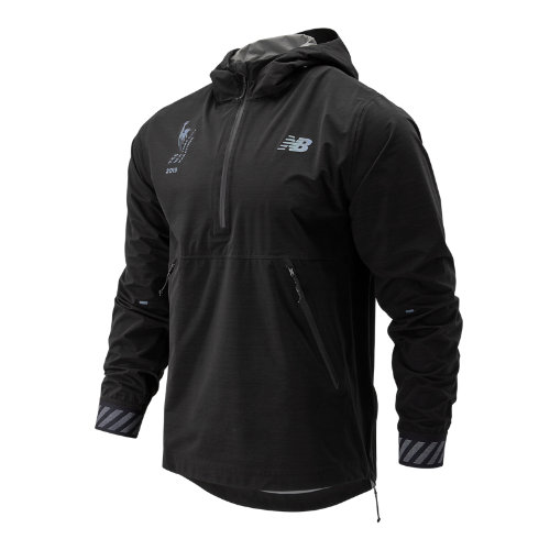 New Balance 93275 Men's NYC Marathon Q Speed Waterproof Jacket - Black (MJ93275MBK)