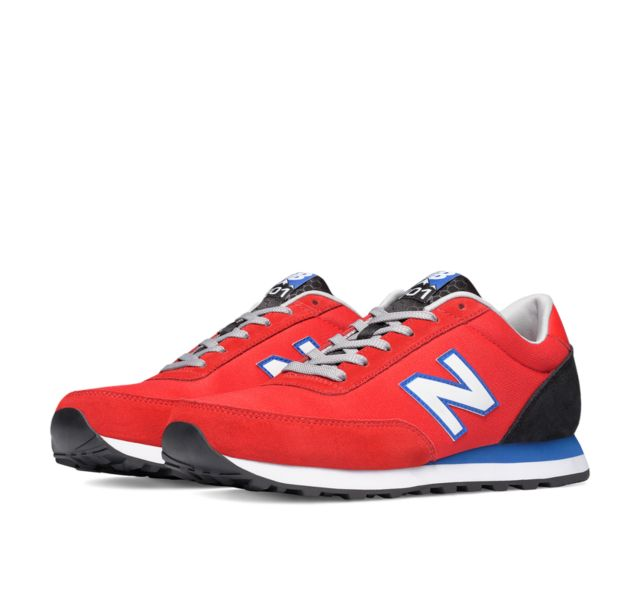 New Balance Retro Running Men's Best Values Featured Shoes (Red)