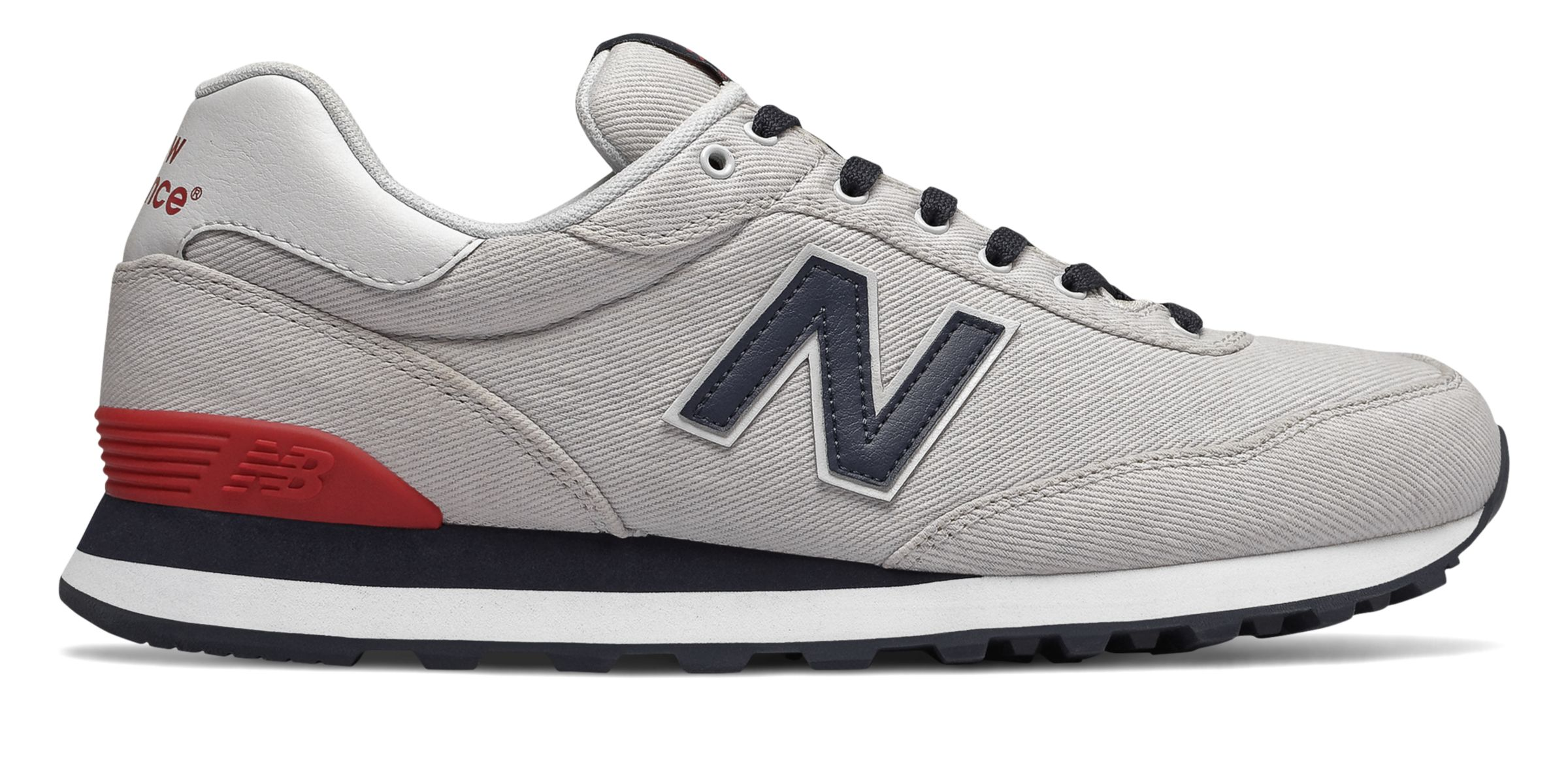 Details about New Balance Men's 515 Shoes Grey With Blue & Red