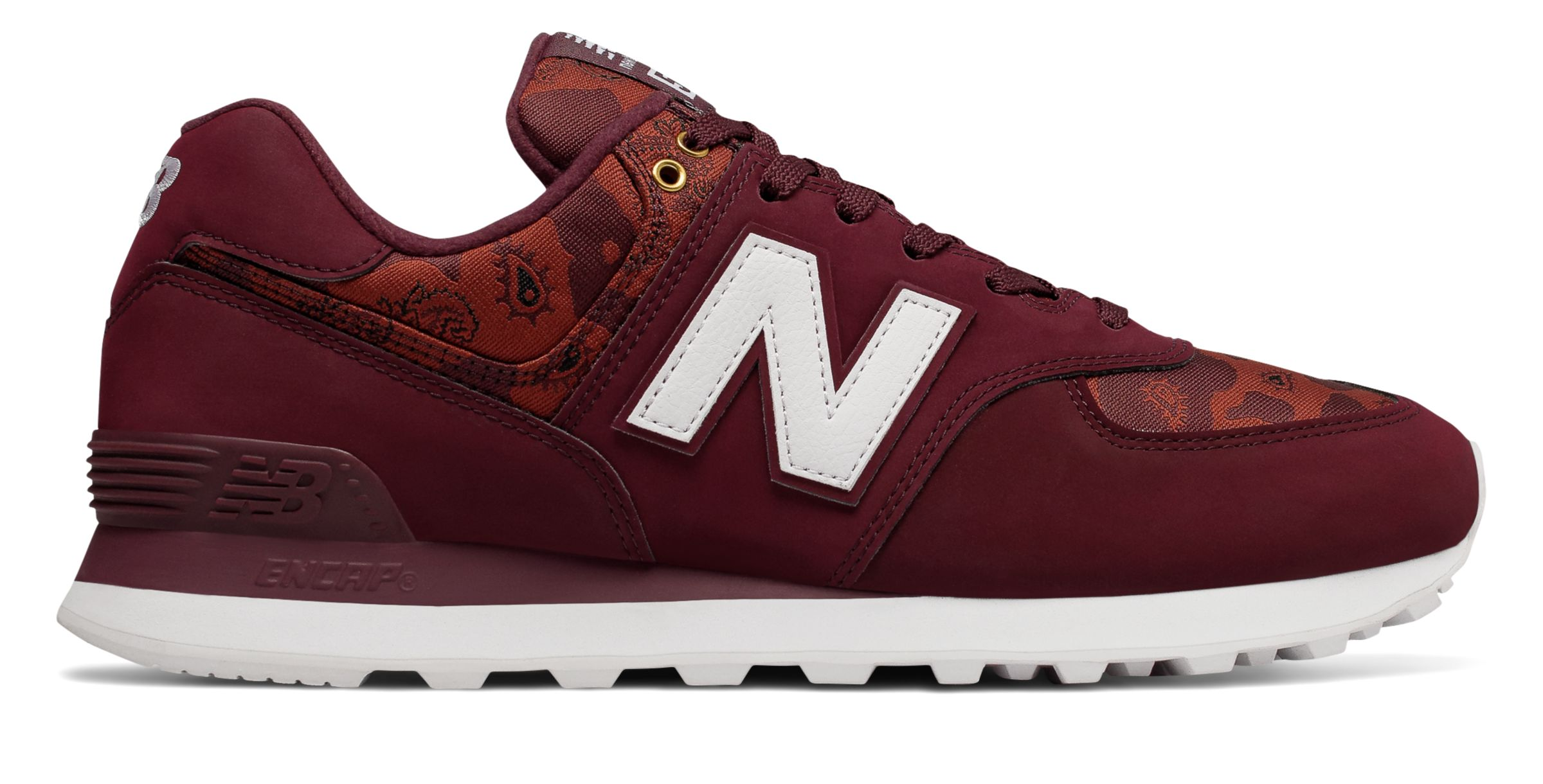 Details about New Balance Men's 574 Paisley Camouflage Shoes Red With Red 7 D