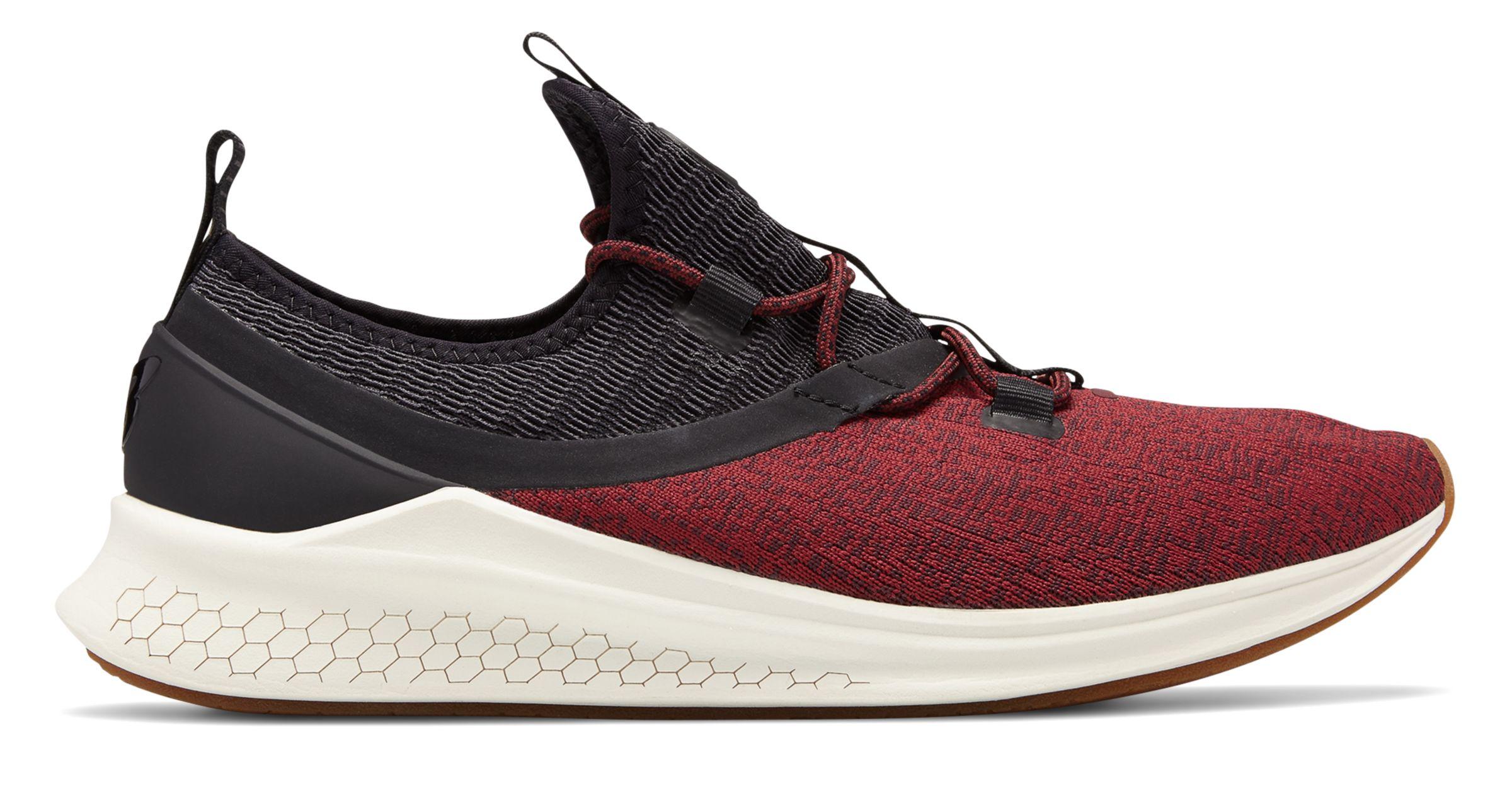 214c40f18da63 New Balance Men s Fresh Foam Lazr Sport Shoes Black with Red   Off ...