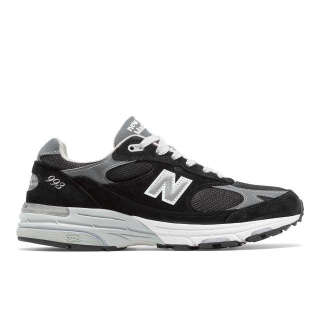 new balance 993 black leather