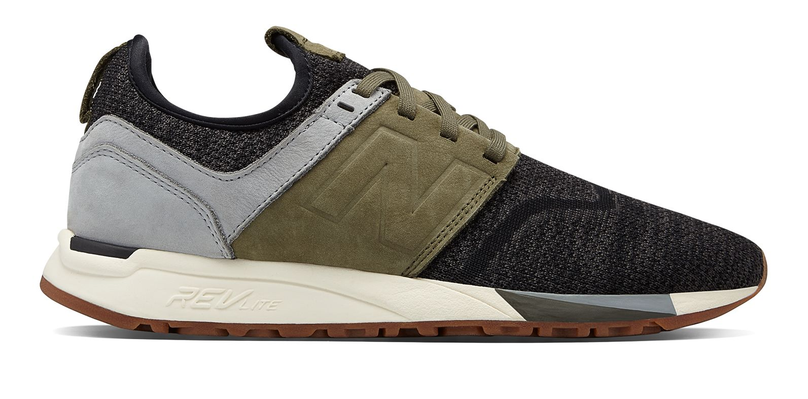 New Balance Men s 247 Luxe Shoes Black with Green  2eeaa5bc4