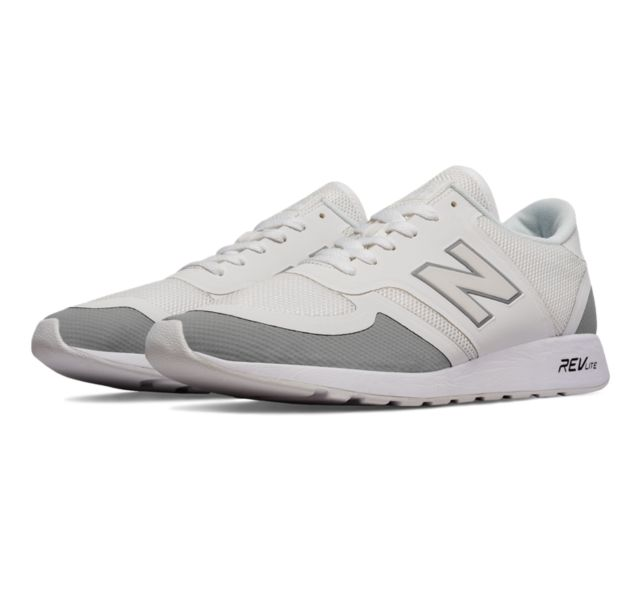 New Balance Men's 420 Re-Engineered Men's Lifestyle Shoes (White & Grey)