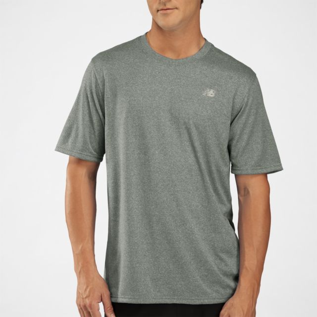 Mens Heathered Short Sleeve