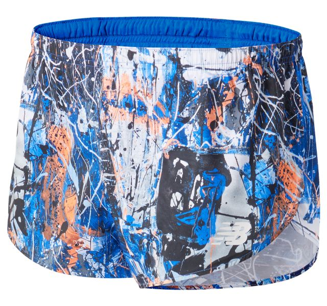 Men's Printed 3 Inch Split Short