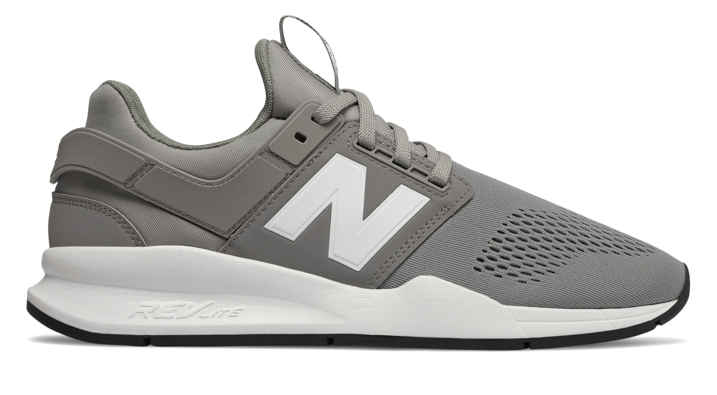 482440fd Details about New Balance Male Men's 247 Adult Lifestyle Shoes Stylish Grey  With White