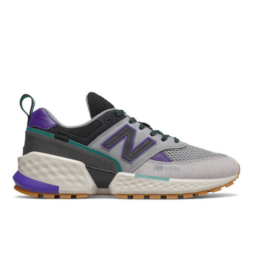 574 Sport Men's Sport Style Shoes - Grey/Purple (MS574AAA)