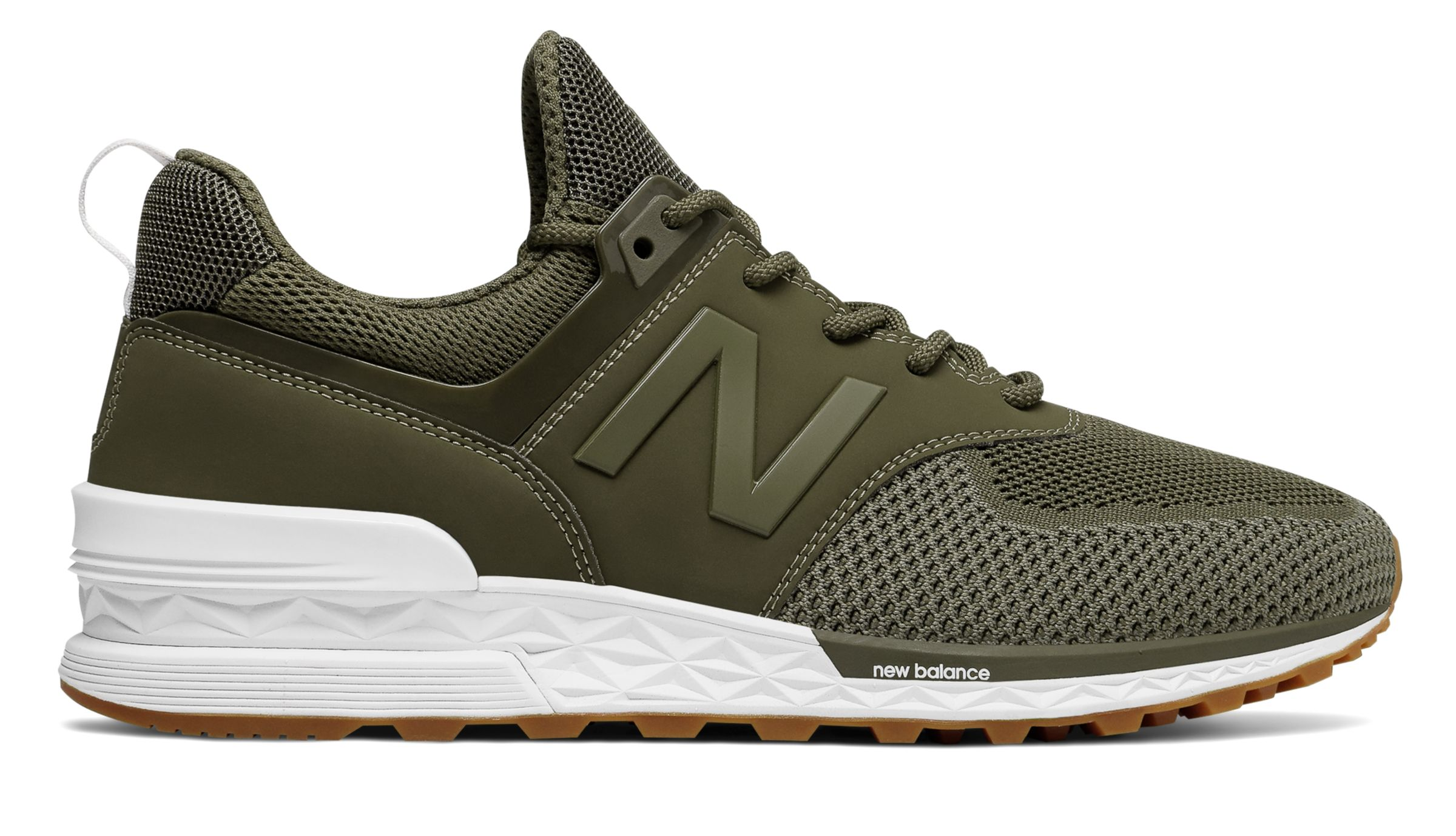 timeless design f8551 f668f Details about New Balance Male Men's 574 Sport Mens Lifestyle Shoes Green  With Green
