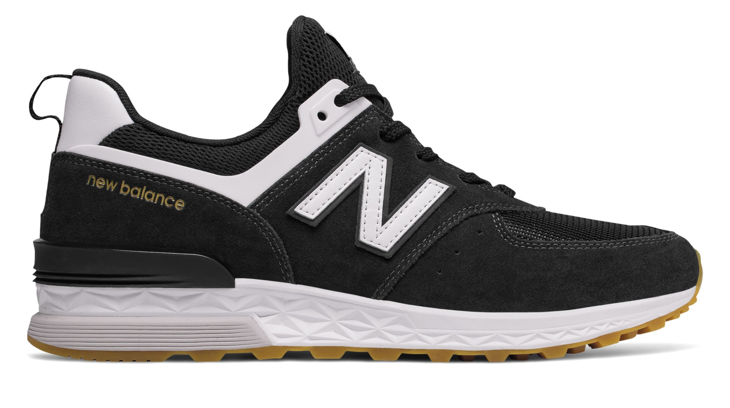 2a9ee660e6 New Balance Male Men's 574 Sport Mens Lifestyle Shoes Black With ...