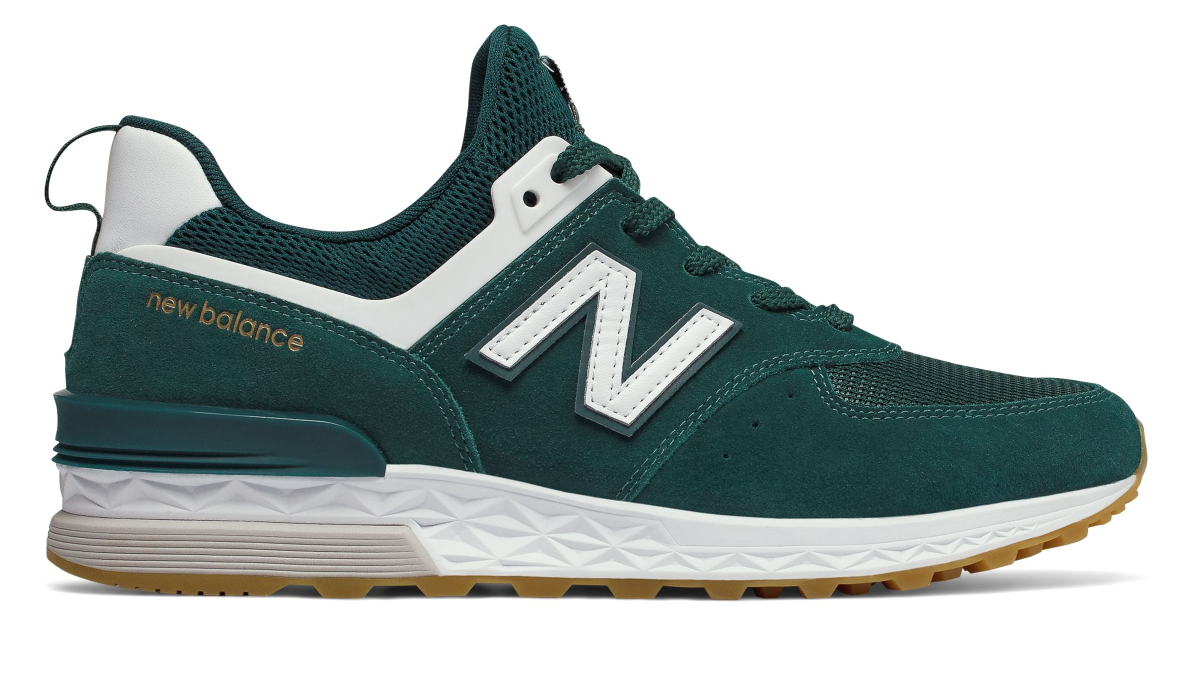 Details about New Balance Men's 574 Sport Shoes Green With White