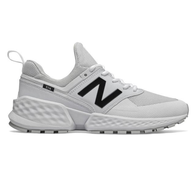 New Balance 574 Sport Triple White Sneakers