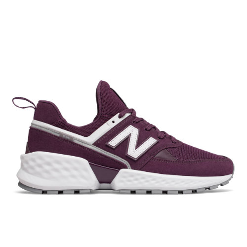 574 Sport Men's Sport Style Shoes - Purple/White (MS574NSC)