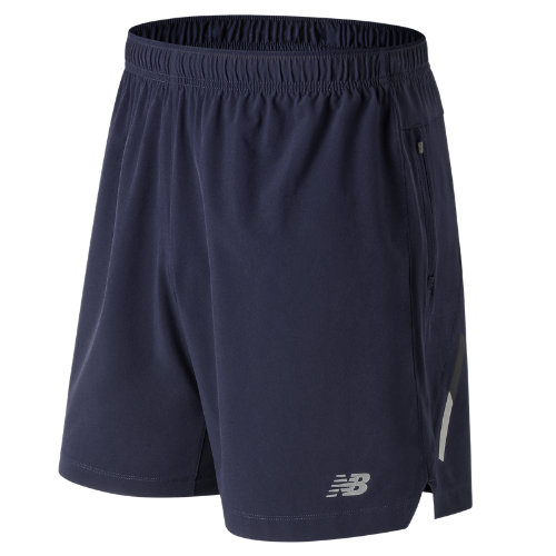 New Balance 81265 Men's Impact 7 Inch Short - Navy (MS81265PGM)