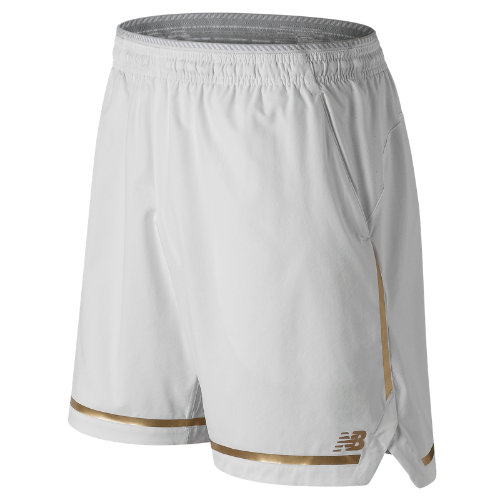 New Balance 91404 Men's 7 Inch Tournament Short - White (MS91404WT)