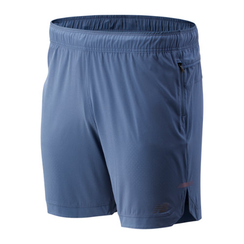New Balance 93253 Men's Q Speed Run Crew Short - Blue (MS93253CMY)