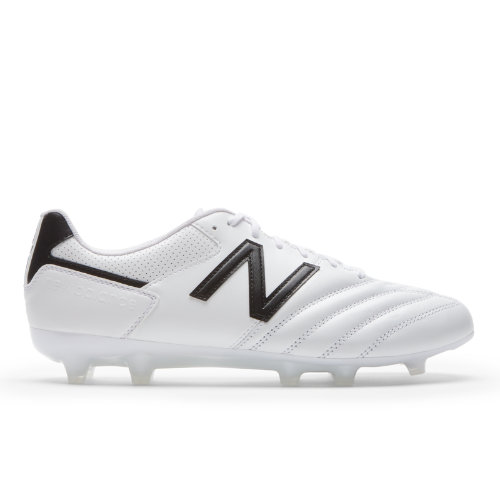 442 Team FG Men's Soccer Shoes - White/Black (MSCFFWB1)
