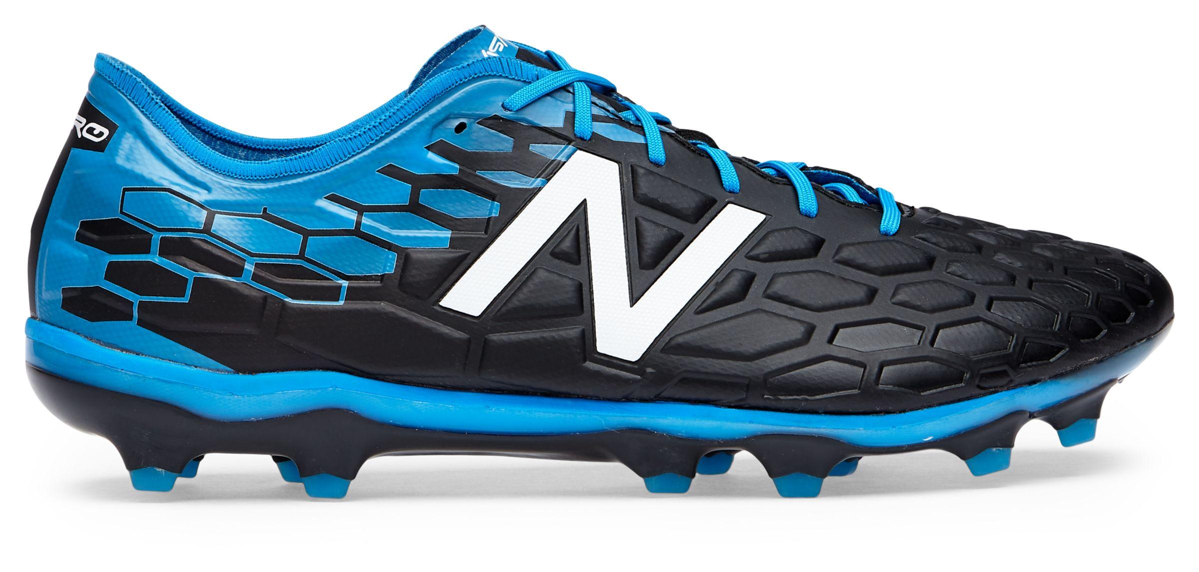 New Balance FG Men's Visaro 2.0 Pro FG Balance Shoes Black with Blue & Red dc2db1