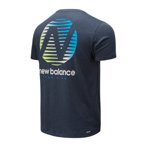 New-Balance-Graphic-Heathertech-T-Men-039-s-Top-Performance thumbnail 18